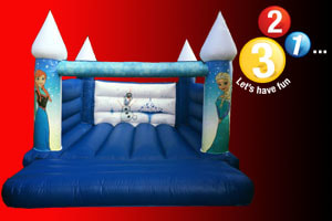Frozen Bouncy Castle Hire Oxfordshire Warwickshire