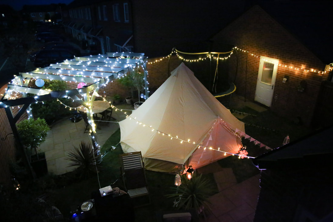 Bell Tent and Garden Party Hire with Lights