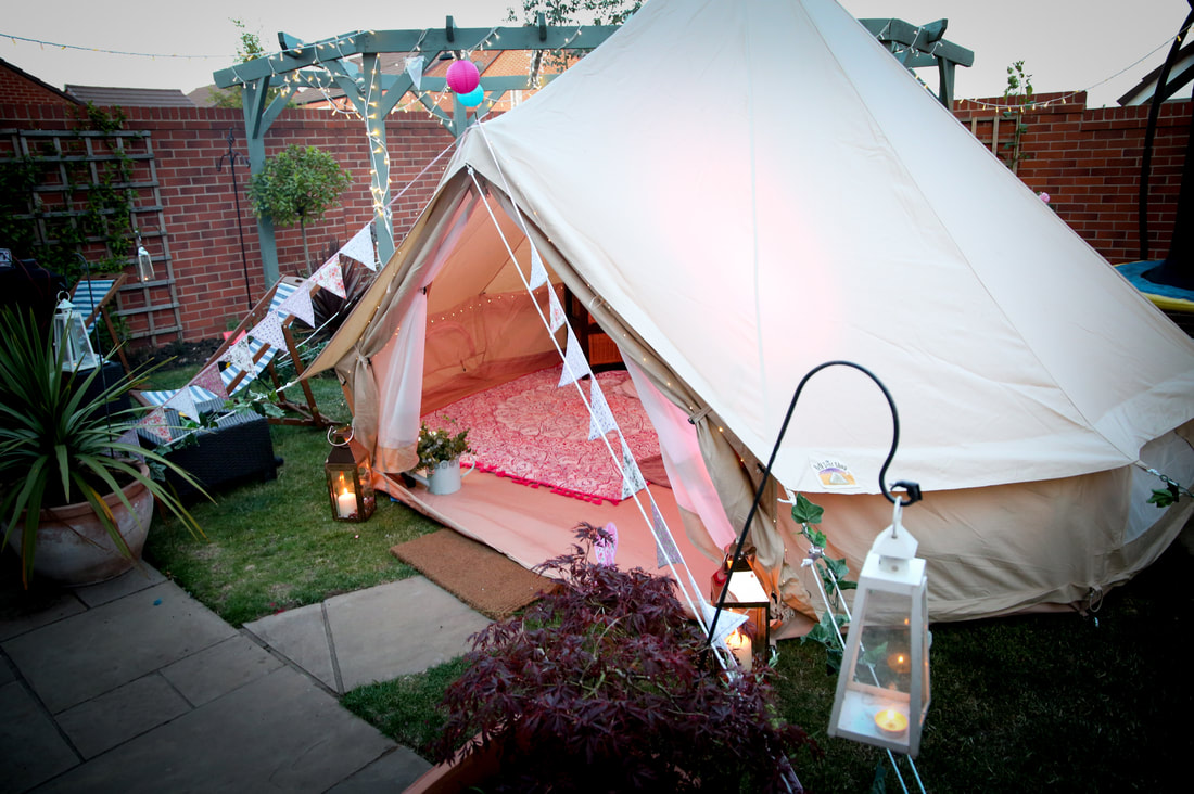 Bell Tent Glamping Hire Garden Party Accommodation Warwickshire and Oxfordshire
