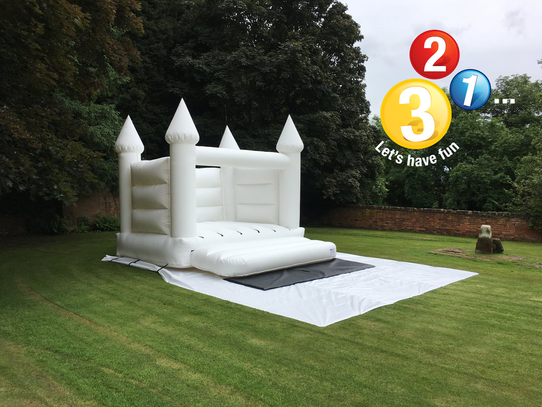 White Wedding Bouncy Castle Hire Warwickshire and Oxfordshire